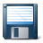 Floppy Disk Blue Icon 48x48