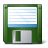 Floppy Disk Green Icon 48x48
