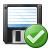 Floppy Disk Ok Icon 48x48