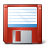Floppy Disk Red Icon 48x48
