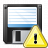 Floppy Disk Warning Icon 48x48