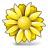 Flower Yellow Icon 48x48