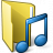 Folder 3 Music Icon 48x48