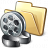 Folder Movie Icon 48x48