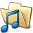 Folder Music Icon 48x48