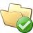 Folder Ok Icon 48x48