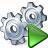 Gears Run Icon 48x48
