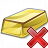 Gold Bar Delete Icon 48x48
