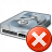 Hard Drive Error Icon 48x48