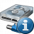 Hard Drive Network Information Icon 48x48