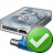 Hard Drive Network Ok Icon 48x48