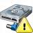Hard Drive Network Warning Icon 48x48