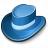 Hat Blue Icon 48x48