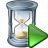 Hourglass Run Icon 48x48