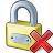 Lock Delete Icon 48x48