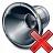 Loudspeaker Delete Icon 48x48