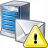 Mail Server Warning Icon 48x48