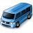 Minibus Blue Icon 48x48