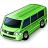 Minibus Green Icon 48x48