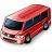 Minibus Red Icon 48x48