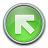 Nav Up Left Green Icon 48x48