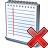 Notebook Delete Icon 48x48