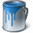 Paint Bucket Blue Icon 48x48