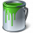 Paint Bucket Green Icon 48x48