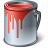 Paint Bucket Red Icon 48x48
