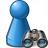 Pawn Blue Find Icon 48x48