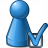 Pawn Blue Preferences Icon 48x48