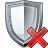Shield Delete Icon 48x48