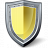 Shield Yellow Icon 48x48