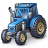 Tractor Blue Icon 48x48