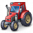 Tractor Red Icon 48x48