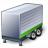 Truck Trailer Green Icon 48x48