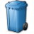 Waste Container Blue Icon 48x48