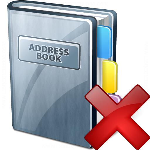 Address Book Delete Icon
