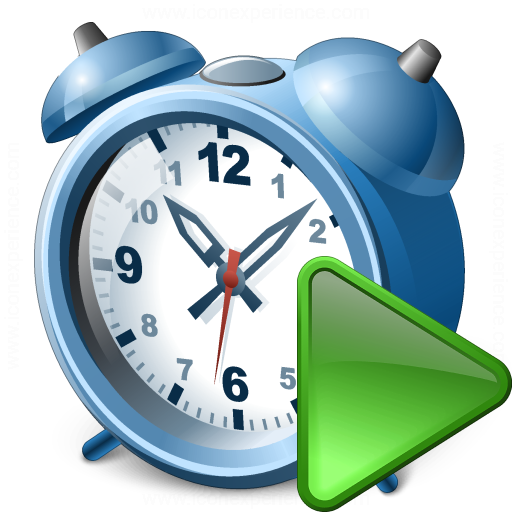 Alarmclock Run Icon
