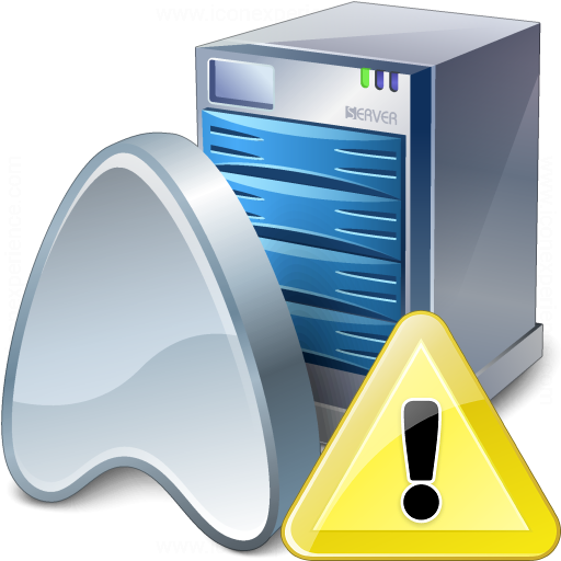 Application Server Warning Icon