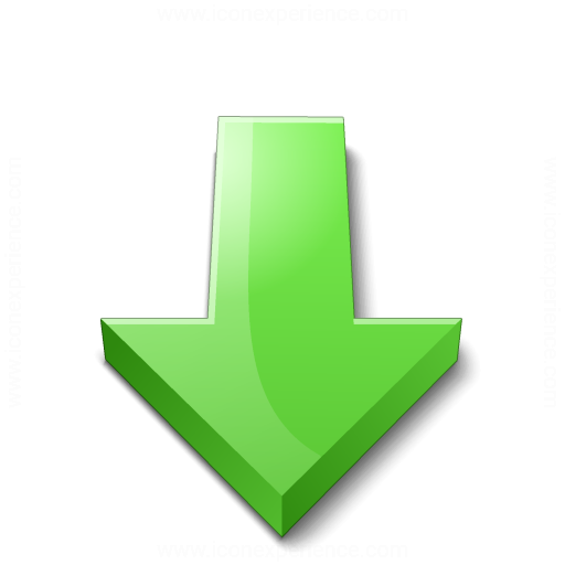 Arrow 2 Down Green Icon