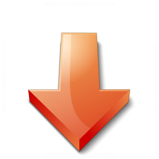 Arrow 2 Down Red Icon