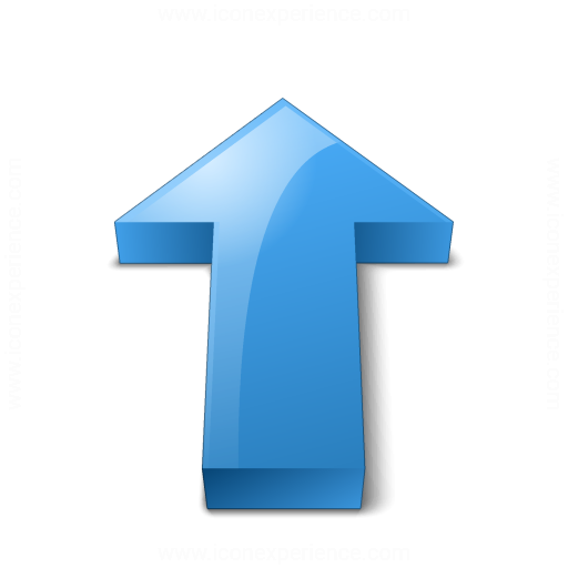 Arrow 2 Up Blue Icon