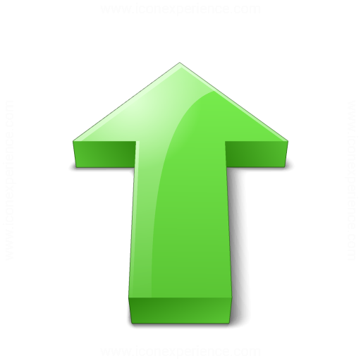 Arrow 2 Up Green Icon