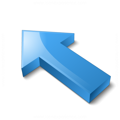 Arrow 2 Up Left Blue Icon