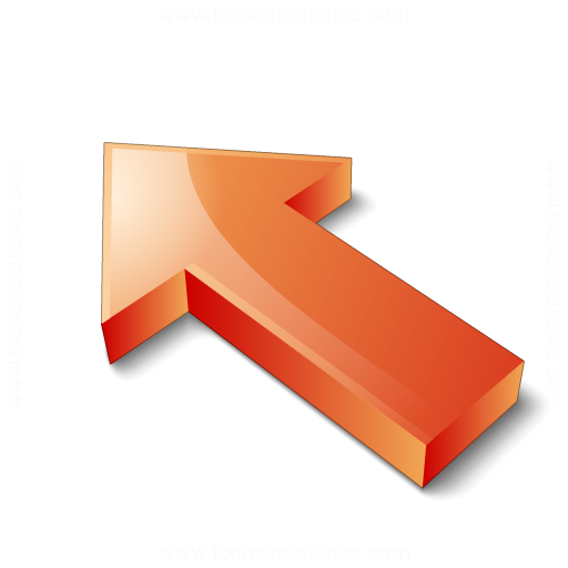 Arrow 2 Up Left Red Icon