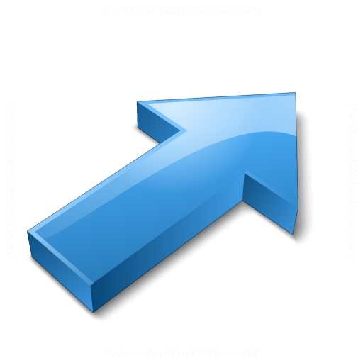 Arrow 2 Up Right Blue Icon