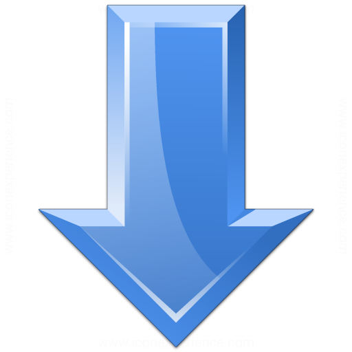 Arrow Down Blue Icon
