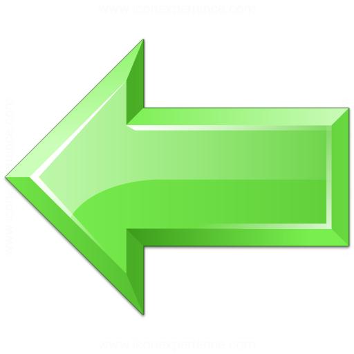 Arrow Left Green Icon
