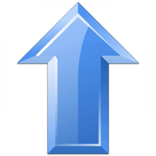 Arrow Up Blue Icon
